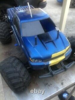 Tamiya Tnx 1/8 Monster Truck Nitro 2 Vitesse Bon État Traxxas Système De Démarrage