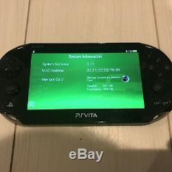 Très Rare Bonne Condition Ps Vita 2000 Pch-2000 Khaki Sony Playstation Black