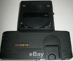 Turbografx-16 + Système + CD + Housse De Transport CD Dock / Très Bon État
