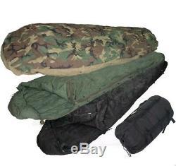 Us Military 4 Piece Modulaire Sac De Couchage Système De Sommeil Utilisé Bon État