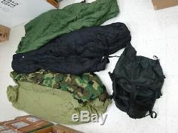 Us Military 4 Pièces Sac De Couchage Modulaire Système De Sommeil Bon État