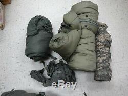 Us Military 5 Pièces Sac De Couchage Modulaire Système De Sommeil Bon État