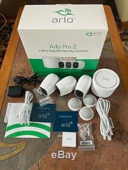 Utilisé Arlo Pro 2 Caméra Système 3 Pack Sécurité, Bon État