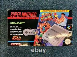 Vintage Super Nintendo (snes) Streetfighter 2 Bundle Console Bon État