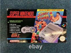 Vintage Super Nintendo (snes) Streetfighter 2 Console Bundle Bon État