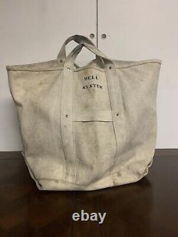 Vintage Système Bell Canvas Bag Joueur De Ligne Très Bon État