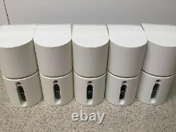 White Bose Acoustimass 10 Home Theater Speaker System 5.1 Testé +bon État