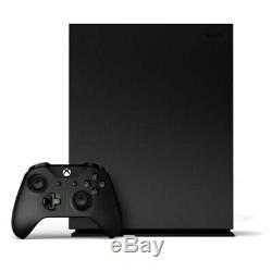 Xbox One X Project Scorpio Édition 1tb Noir Console Très Bon État